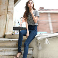 2013 autumn and winter thin pencil butt-lifting women's slim waist high waist skinny jeans