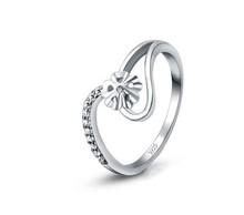 christmas passion honey 100 Real Pure 925 Sterling Silver Elegant Bride Wedding Ring umbrella zircon rings
