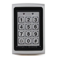 125KHz RFID ID Card Reader Metal Keypad With Door Bell Button Door Access Control System +10 ID Key Fobs Brand NEW