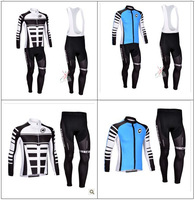 2013 Assos Thermal Fleece Cycling Jersey Long Sleeve and Cycling (bib) Pants GTZ007