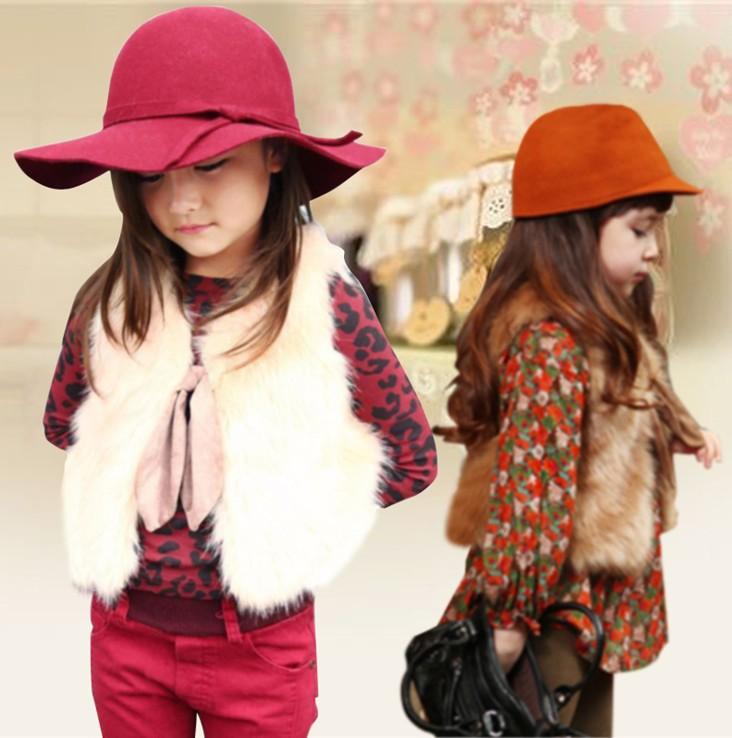 Yola-004, 1 шт. розничная, 2015 новинка девушка меховой жилет весенние девушки жилет 2 цветов Высокое качество дети верхняя одежда бесплатная доставка(China (Mainland))