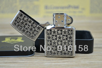 Free Shipping New Metal Windproof Kerosene Oil Lighter,Five-Pointed Star Patterns