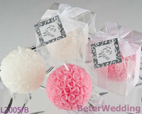 10pcs Beach Party Rose Ball Wedding Candle Favor, Party Souvenirs BETER-LZ005/B(small)