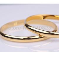 lots sale classic 18k yellow gold filled smooth plain soild bangle women's jewellry hot