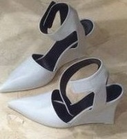 Anna 2014 ce lin pointed toe wedges sandals toe cap covering fashion trend of the women's shoes limited edition