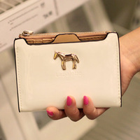 2013 women's short design wallet brief ultra-thin japanned leather cartoon
