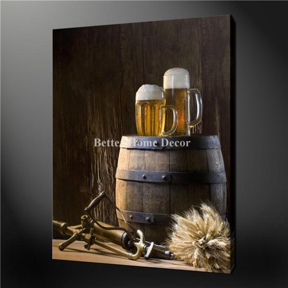 quadro su parete marrone olio su tela : ... su tela beer barrel da parete vintage design il quadro per decorazioni