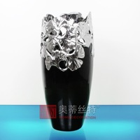 Leaf cutout carved vase ao-1072-b