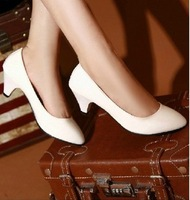 Japanned leather candy color pointed toe vintage plain all-match work shoes female shoes single shoes