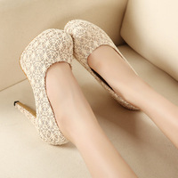 New arrival 2013 high-heeled shoes sexy princess lace platform thin heels 11cm female single shoes