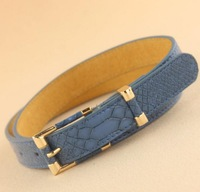 2014 the newest style high quality genuine leather gold pin buckle all match designer brand thin waist belt for women