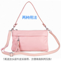Summer small bag genuine leather handbag fashion handbag women's bag first layer of cowhide single shoulder cross-body bag