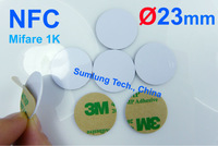 100pcs NFC Tag Classic 1K + 3M Sticker NDEF Android HTC Samsung Note 2 Galaxy S3 Lt26i RFID IC 13.56MHz ISO14443A PVC Waterproof