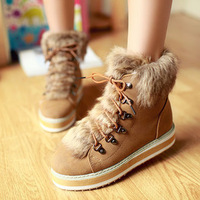 2013 autumn and winter wool boots female casual platform shoes snow boots thermal boots