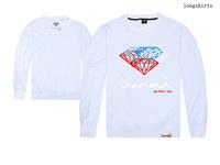 free shipping high-quality 100% cotton long sleeve t shirts diamond supply skateboard male short T-shirts