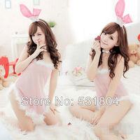 2013 Lovely dress Taste uniforms Uniforms temptation Rabbit Costume Bunny Sexy lingerie Free shipping 215