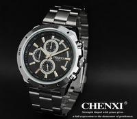2013 new men 100% Excellent Quality stainless full steel watch gift sports time force watches Black, white sports Free shipping