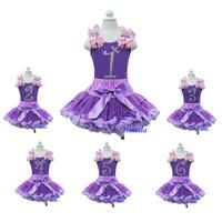 Purple Lavender Pettiskirt Rapunzel Tangled Princess Purple Tank Top Bling Number 1 2 3 4 5 6 7 8 Birthday Party Dress 1-7Years