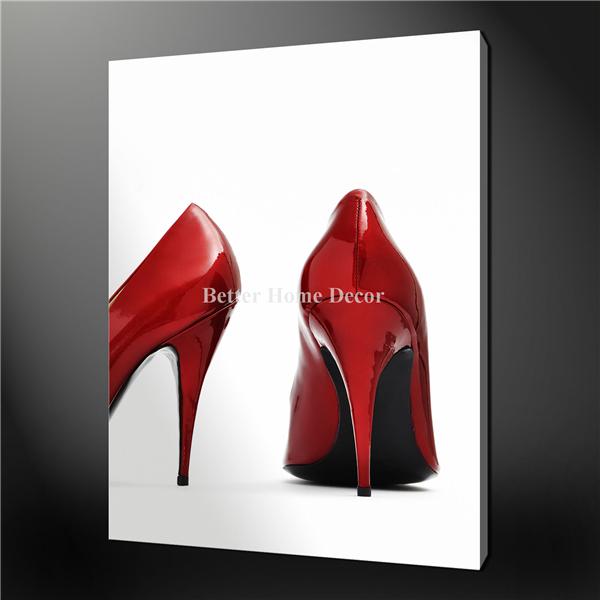 Arte pintura de impressão na lona O Retrato Red Hills Sexy Shoes premium parede Design Imagens Para Casa óleo moderna decoração(China (Mainland))