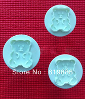 3Pcs/Set Cute Bear Cake Decoration Molds Biscuit Cookies Cutter Chocolate Embossing Moulds Fondant Tools