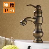 Fashion antique faucet antique brass double antique (KP)