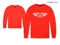 free shipping New designer men's fashion unkut T shirt full o-neck 100% cotton Hip hop shirt long sleeve