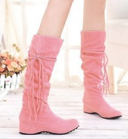 2013 fashion tassel over knee high boots for women winter boots