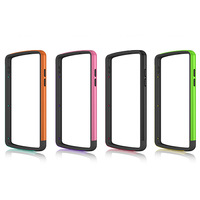 New arrival Colorful Silicone Skin Bumper Frame Case With Side Button For iPhone LG Google Nexus 5 Free Shipping
