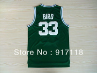 Free Shipping,#33 Larry Bird Rev 30 Top quality Basketball jersey,Embroidery logos,Size 44-56