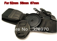 New Lens Cover Prevent Lost Button 52mm  58mm  67mm Anti Lost Strap  free shipping +free tracking number