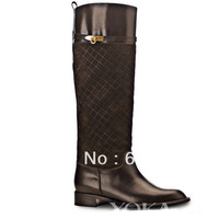 Genuine Leather Women Flat Winter Boots,Name Brand Riding Boots,High Quality Half Boots
