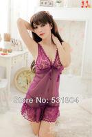 2103 New models Sexy Lace Gauze Lanyards Pajamas Nightdress Sexy lingerie Free shipping 228