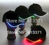 2013 New Design colorful LED Light Hat Party Hats Boys and Grils Cap Baseball Caps Fashion Luminous Adjustment SIZE