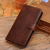 Luxury Retro Crazy Horse Leather Flip Case For Samsung Galaxy Note 3 iii N9000 Wallet Stand Cover With Card Holder Free Shipping