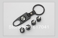 free shipping 4 Pieces/set car logo New Black High Quality For Mazda Car Wheel Tyre Tire Stem Air Valve Caps