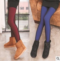 Free Shipping!!  Winter thickening double warm leggings dazzle colour bar three-dimensional fluorescence on foot trousers