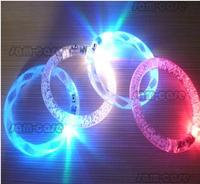 5pcs/lot Acrylic Flash Colorful Luminous Bracelet for Party Carnival Bar, Fashion Style, Free shipping