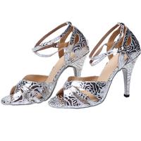 Silver rose Latin dance shoes women's high-heeled dance shoes dance shoes dance shoes soft outsole