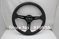 Free shipping 2013 Europe and America selling brand new universal Leather steering wheel modified 14