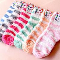 Autumn and winter thickening women's socks floor socks coral fleece socks