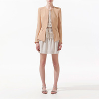 2013 New Slim Drape Small Suit Women's Jacket Slim Temperament Long-Sleeved O-Neck Small Suit Jacket HTXXZ-018