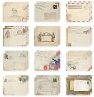 EN015 95*72mm European Vintage Mini Paper Envelopes for Wedding Invitation/Card Packing Free Shipping 12Patterns
