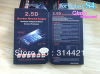 5pcs/lot free shipping Crystal Clear Tempered Glass Screen Protector Guard for Samsung Galaxy S4 I9500