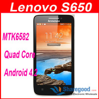 Original Lenovo Android 4.2 S650  mini Vibe X  mobile phone MTK6582 Quad Core  3G/WCDMA GPS 1GB RAM 8GB ROM support Russian