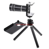 10X  Zoom Telescope Camera Lens for Mobile Phone  i  P h o n e  4 4S with Tripod Stand Case