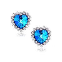 E459  Free Shipping! Wholesales New Gift Fashion Peach Heart Zircon Earrings Titanic Heart of Ocean Jewelry