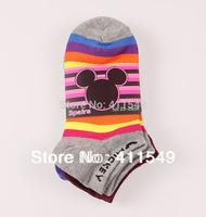 (L&C)cotton classic drape mickey socks Lace, dot   sock , wool sock (12pcs=6pairs) /lot, mix color  socks  fit 39-44 size12-027