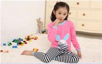 2013 New Arrival Children's Cartoon Pajamas Sets Girls Underwear Child Sleepwear Clothing Set  Size L