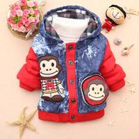 Autumn 2013 autumn and winter female male child cartoon wadded jacket outerwear children thickening baby outerwear