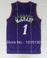 Tracy Mcgrady Jersey Toronto #1 Purple Stitched Basketball Jersey Free Shipping
